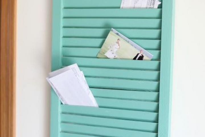 Shutterpaeel voor brieven DIY
