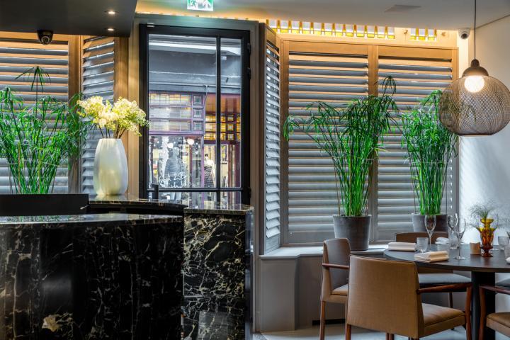 JASNO shutters in Restaurant Wiesen, Eindhoven