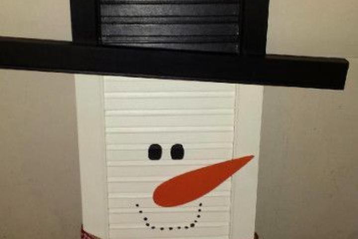 DIY sneeuwman shutter